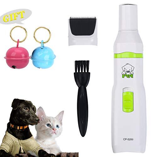 Belababy Felltrimmer, geräuscharm, professionelles Nagelknipser-Set, für kleine, mittelgroße und große Hunde, Katzen, schnurloses elektrisches Rasiergerät