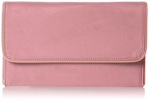 Swankyswans Damen Amanda Suedette Slim Clutch, (Blush Pink), 3x15.5x25.5 centimeters