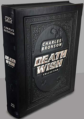 Death Wish Collection - 5-Disc Leatherbook Edition inkl Mediabook + 1 weltweit Exklusive Motiv Uhr von Paprcuts usw - Blu-ray