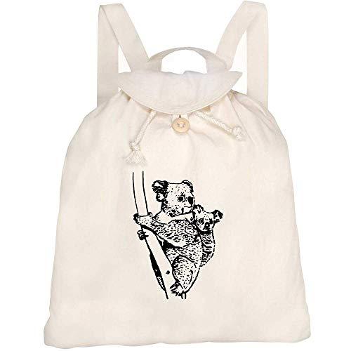 Azeeda 'Koala & Joey' Canvas Rucksack / Backpack (RK00010042)