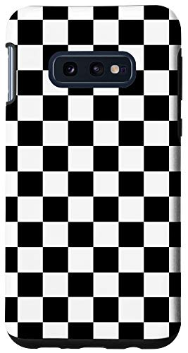 Galaxy S10e Black White Checkerboard Cool Gingham Checkered Lover Gift Case