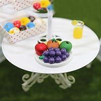 PULABO 1/6 1/12ドールハウスミニチュアグレープフルーツディッシュフードモデルごっこ遊びキッズおもちゃ非常に実用的で人気