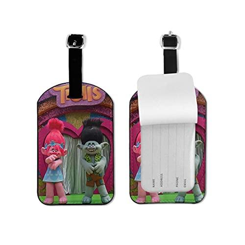 Etiquetas de equipaje Tr-olls para viajes de negocios tarjetas de crédito titulares de tarjetas de nombre organizador pu cuero maleta etiqueta
