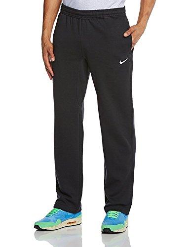 NIKE Mens Club Open Hem Swoosh Sweatpants Black/White 826424-010 Size X-LARGE
