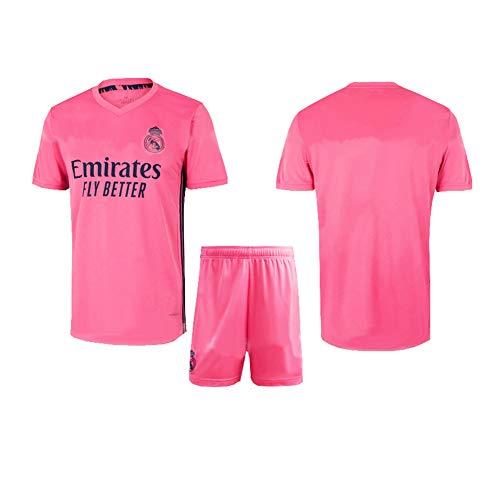 LCHENX-2020-2021 Real Madrid Fußballverein Marcelo/ISCO Fans Fußballtrikot Set für Erwachsene und Kinder,No Number pink,4~5Years