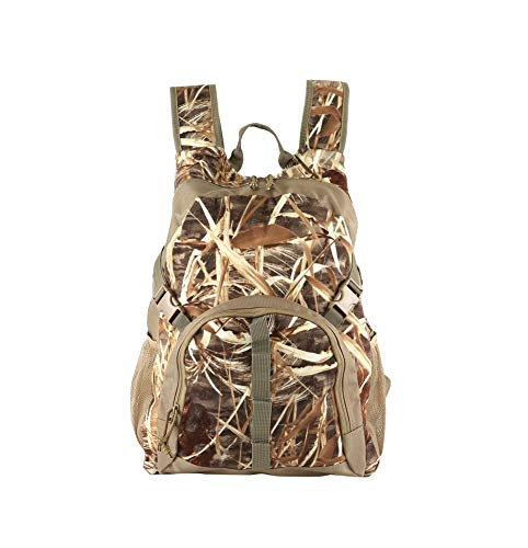 Auscamotek Duck Hunting Camo Backpack with Blind Material Camouflage Day Pack Waterproof Dry Grass