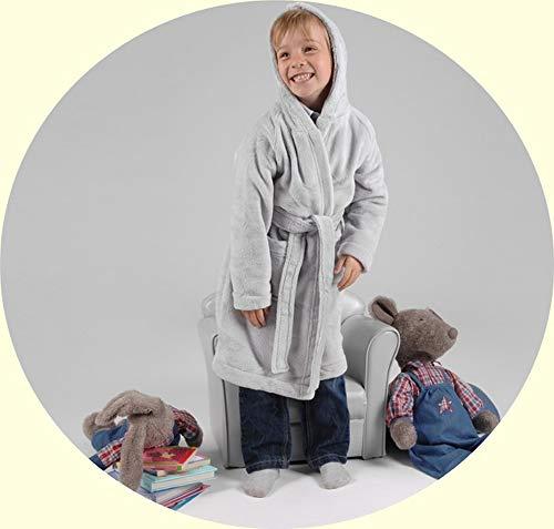 Robe de chambre enfant gris perle 6 ans