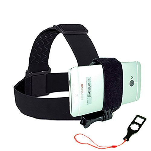 Universal Head Mount for Your Smartphone by Action Mount, Operable with Any Smartphone. Strong Hold. Don