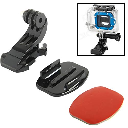 LISUHONG LHSH AY2 ST-57 J-Hook Buckle Mount + 3M Sticker + Superficie Piatta for GoPro New Hero / HERO6 / 5/5 sessione / 4 sessioni / 4/3 + / 3/2/1, Xiaoyi e Altre Action Cam
