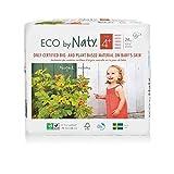 Naty - Pannolini usa e getta Eco per pelli sensibili, taglia 1, 2-5 kg, 4 confezioni da 25