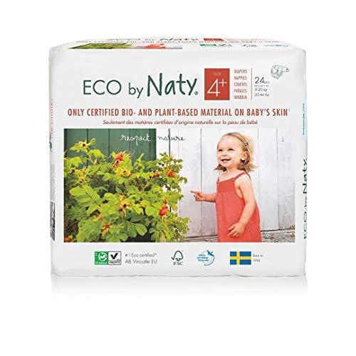 Naty Couches Jetables Eco pour Peaux Sensibles Taille 4+ 9-20 kg, Unité