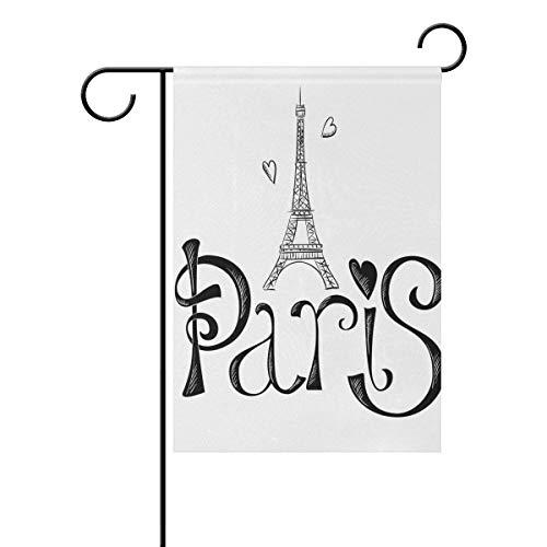 Jessgirl Gartenflagge Die Coole Pariser 28 x 40 Zoll vertikale vertikale doppelseitige dekorative Flagge für Ostern Frühling Sommer Herbst