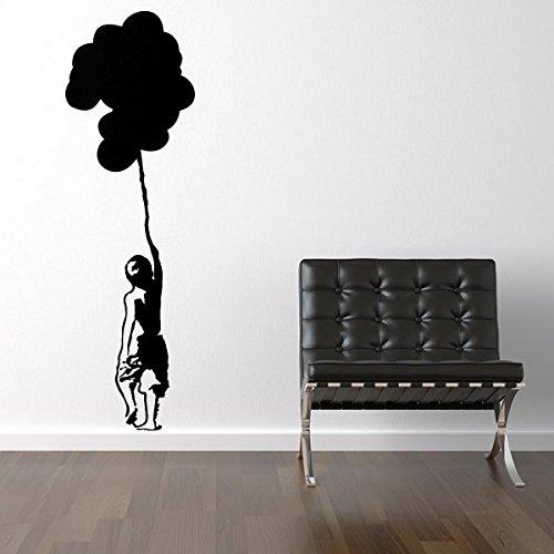 Ambiance-Live Sticker Mural enfant et ballons - 180 X 55 cm, Or