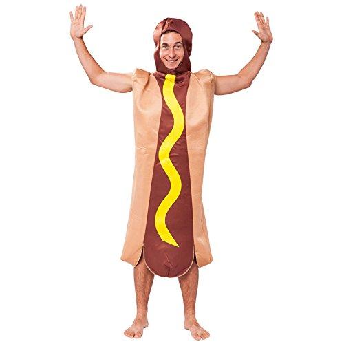 Bristol Novelty AC493 Hotdog Kostüm, Mehrfarbig, Einheitsgröße