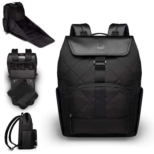 PAPERCLIP JoJo Plus Diaper Bag Backpack - Eco Friendly - Large - Multifunctional - Black