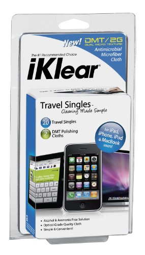 iKlear Travel Singles for iPad iPhone MacBook Pro and MacBook