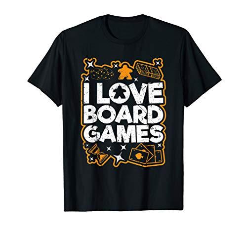 I Love Board Games Brettspiel Kartenspiel Würfel Spielfigur T-Shirt