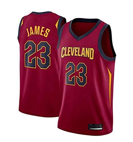 FMSports Jerseys De Baloncesto para Hombre - NBA Cleveland Cavaliers # 23 Lebron James Uniforme De Fanático del Baloncesto Camiseta De Chaleco De Tela Transpirable Fresca Jersey,M~170cm/65~75kg