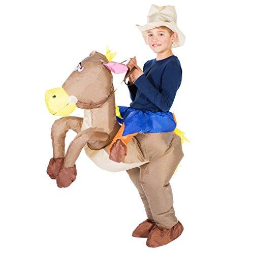 Bodysocks® Costume Gonfiabile da Cowboy per Bambini