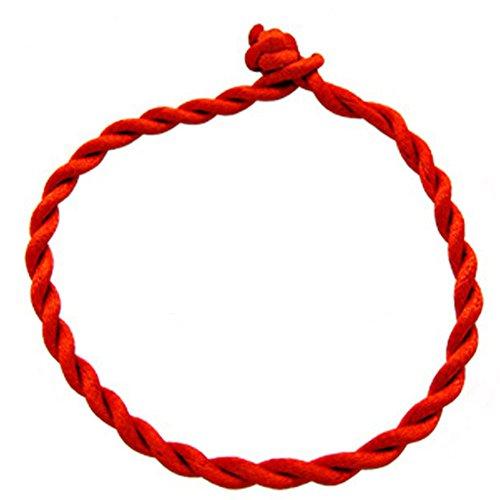Haodou Rojo Hilo Cadena Pulsera Suerte Rojo Cuerda Hecha A Mano de La Pulsera para Las Mujeres de La Joyería de Los Hombres Amante Pareja