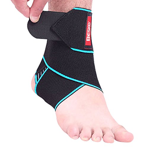 Beskey Ankle Support Adjustable Ankle Brace Breathable Nylon Material Elastic...