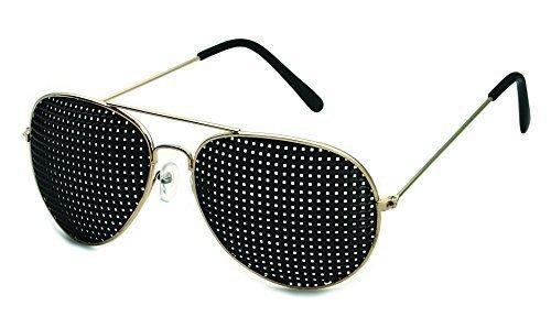 occhiali stenopeici in metallo 420-PGP - piazza Raster - incl. Accessori