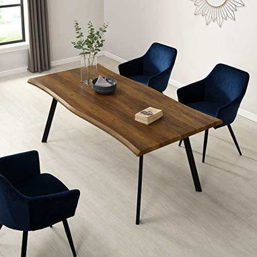 Cherry Tree Furniture Kenora Wood Effect Dining Table with Curved Edges (180 cm, 6-Seater)