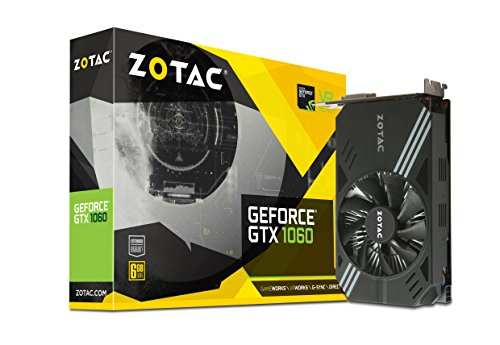Zotac GeForce GTX 1060 Mini, zt-p10600 a-10l, 6 GB GDDR5 Super Compact VR bereit Gaming Grafikkarte