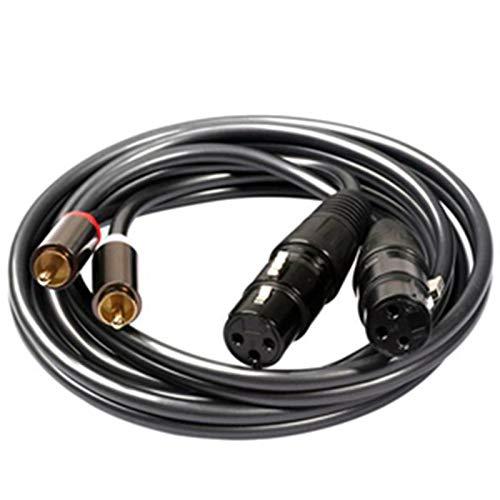 Adanse Cable de Audio 2 RCA Par Hembra 2 XLR 3 Pines...