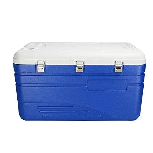 JXS Koelbox, hoogwaardige koelkast, camping, picknick, verbeterde versie met geïntegreerde thermometer (130 liter)