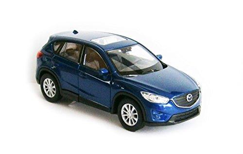 Welly Mazda CX-5 Metall Modellauto Auto Modell Spielzeugauto 4-Farben 64 (Blau-Metallic)