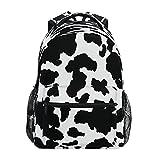 BOLOL - Mochila escolar con estampado de animales de vaca, mochila para ordenador portátil, mochila de viaje, senderismo, camping, para mujeres, niñas, hombres, niños y estudiantes