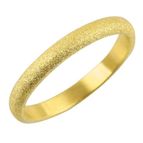 [アトラス]Atrus リング レディース 婚約指輪 純金 24金 ホーニング加工 つや消し 地金リング 11-15号 ストレート 甲丸 指輪 13号