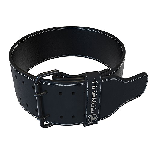 Iron Bull Strength Powerlifting Belt - 10mm Double Prong - 4-inch Wide...