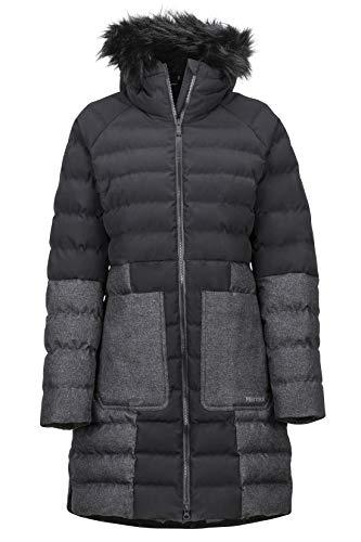 Marmot Damen Isolierte Winterjacke, Stylischer Warmer Parka, Wasserdicht, Winddicht Wm's Margaret Featherless JKT, Black, M, 79790