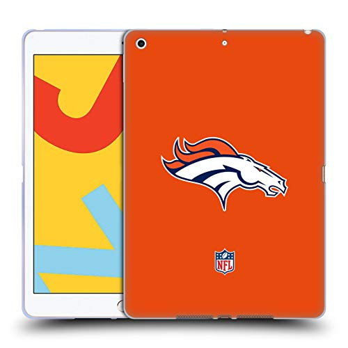 Official NFL Plain Denver Broncos Logo Soft Gel Case Compatible for Apple iPad 10.2 (2019)/(2020)