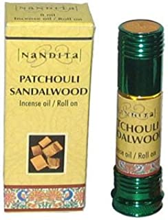 Patchouli Sandalwood - Nandita Incense Oil/Roll On - 1/4 Ounce Bottle