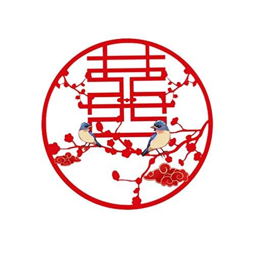 PRETYZOOM Kinesiskt traditionellt bröllop pappersskuren magpie avtagbar immateriellt arv pappersskuren fönsterklistermärke för bröllopsdörr fönsterdekor