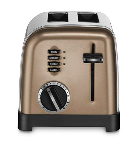 Cuisinart CPT-160CS 2-Slice Metal Classic Toaster, Copper Stainless Steel