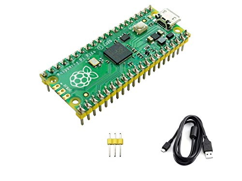 IBest Raspberry Pi Pico RP2040 Microcontroller Board with Pre-Soldered Header Flexible Mini Board Based on Raspberry Pi RP2040 Chip,Dual-Core Arm Cortex M0+ Processor,Support C/C++/Python