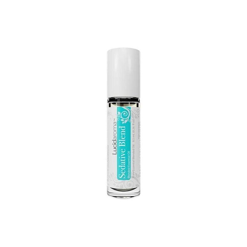 産地狂う建物Lucid Aroma Sedative Blend セダティヴ ブレンド ロールオン アロマオイル 8.5mL (塗るアロマ) 100%天然 携帯便利 ピュア エッセンシャル アメリカ製