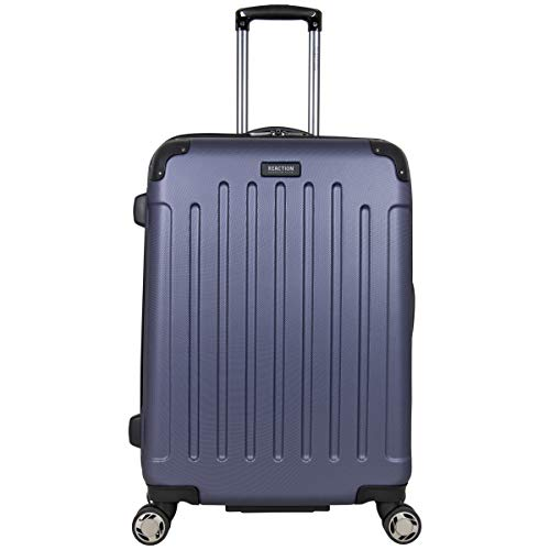 """Kenneth Cole Reaction Renegade 24"""" Lightweight Hardside Expandable 8-Wheel Spinner Checked-Size Luggage, Smokey Purple"""