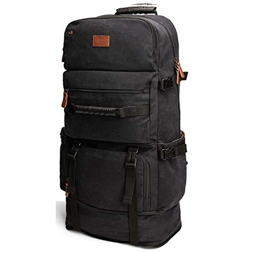 XUE-SHELF Mochila para deportes al aire libre, marco interno, mochila de senderismo, mochila impermeable, mochila de camping, mochila de día, color negro, L