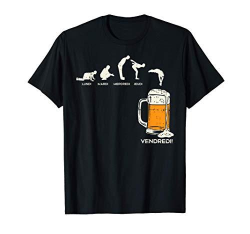 Homme Jours De La Semaine Et Bière Drôle Beer Lover Homme Cadeau T-Shirt