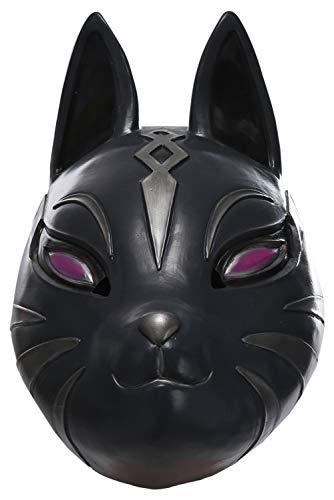 Bilicos Fox Forteresse Latex Masque Coiffures Masque Facial Cosplay Props Accessoires Noir