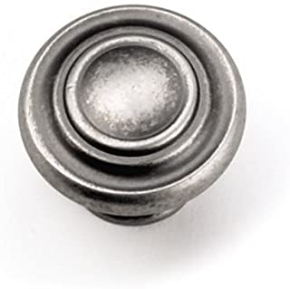 Laurey 51806 Cabinet Hardware 1-3/8-Inch Nantucket Knob, Antique Pewter, Ant, Ant. Pewter