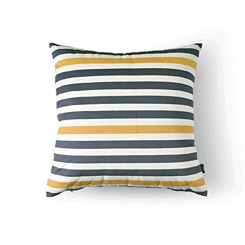 WXH Cushions Cojín geométrico del Amortiguador de Almohada geométrico Simple de la Almohada de la Tela del sofá 22 * 22 Pulgadas A+