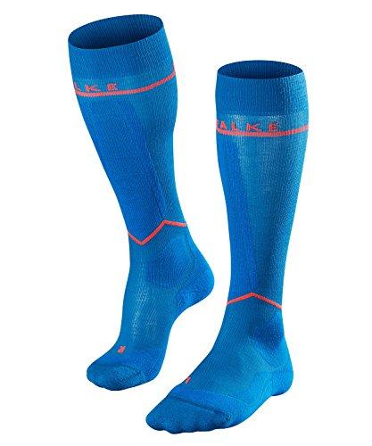 FALKE Damen Kompression Skisocken SK Energizing Wool, Merinowollmischung, 1 Paar, Blau (King Fisher 6834), Größe: 39-42 W2