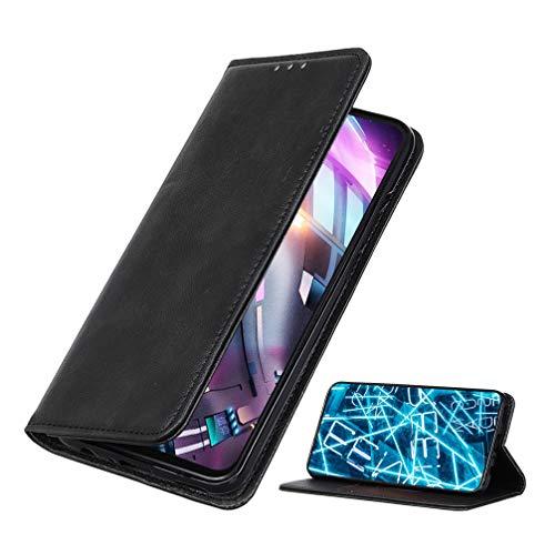 BRAND SET Funda para Xiaomi Mi 10T Lite 5G Premium Cartera Estilo Flip de Piel Sintética Funda con Seguro Cierre de Cierre Magnético y Función de Soporte Carcasa para Xiaomi Mi 10T Lite 5G(Negro)