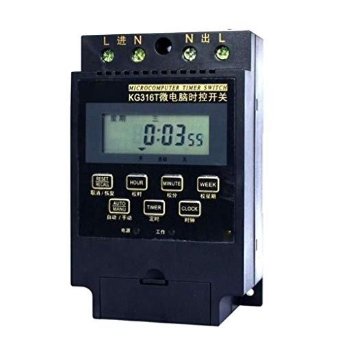 ZYElroy KG316T AC 220V Microcomputer Timer Switch Programmable Controller Control Time Range 1 Min-168 Hours